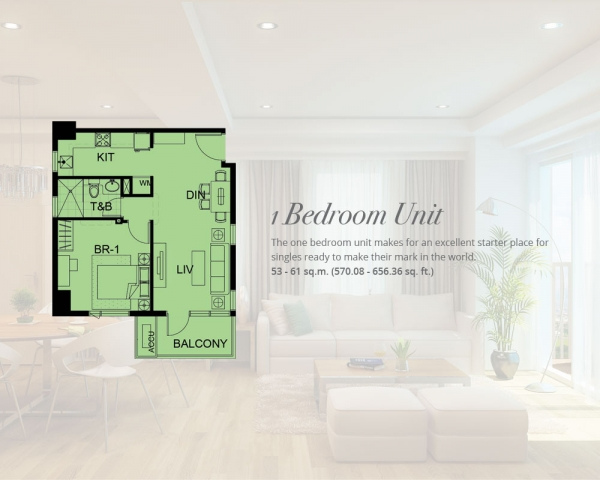1 Bedroom Condo Unit residential alabang