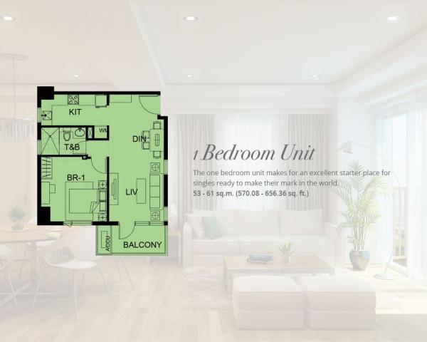 1 Bedroom Condo Unit residential alabang
